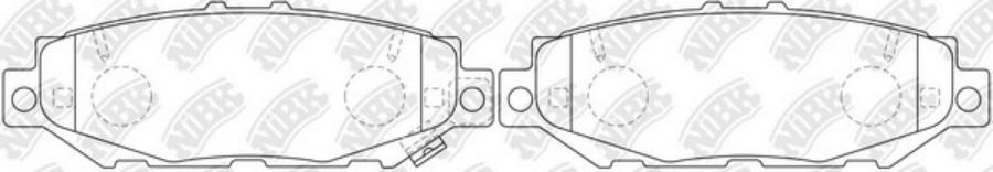 Задние тормозные колодки PN1363