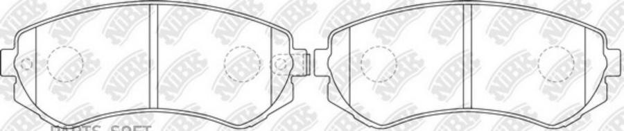 Задние тормозные колодки PN2199