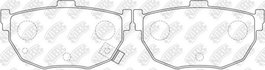 Задние тормозные колодки PN2130