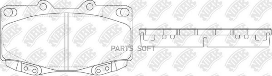 Передние тормозные колодки PN1830