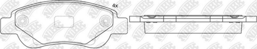Передние тормозные колодки PN1841