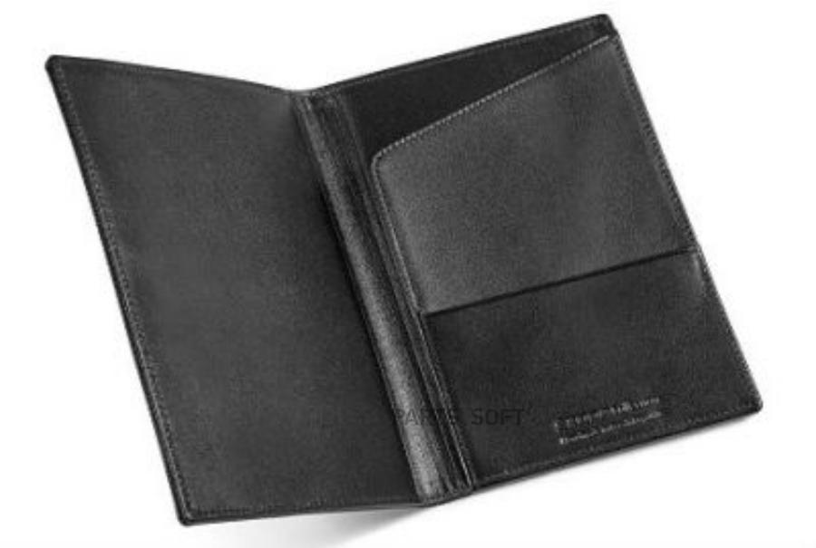 Обложка для автодокументов Skoda Leather ID Case Black