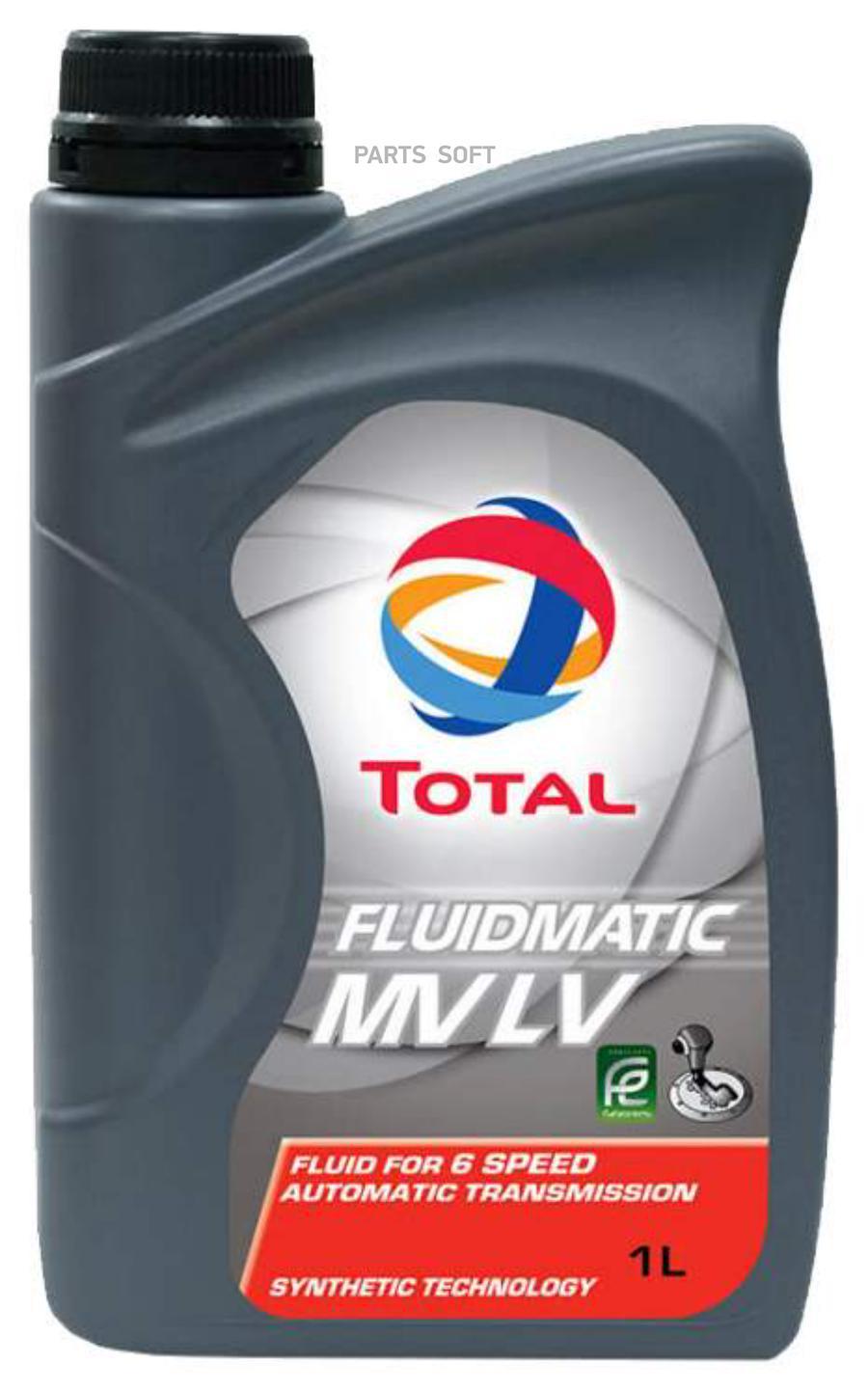 Масло трансмиссионное синтетическое FluidMatic MV LV, 1л