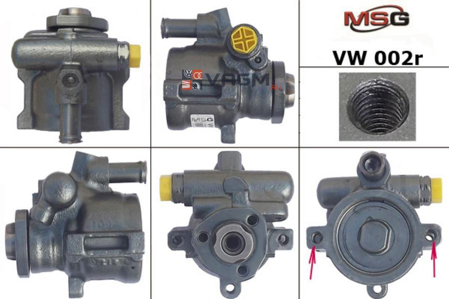 Насос ГУР SEAT ALHAMBRA 96-10;SKODA FELICIA I 95-98;VW CADDY II пикап 96-00 MSG Rebuilding VW002R