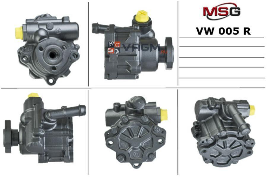 Насос ГУР FORD GALAXY 95-06;SEAT ALHAMBRA 96-10;VW CADDY II 96-00;SEAT CORDOBA 93-99; MSG Rebuilding VW005R