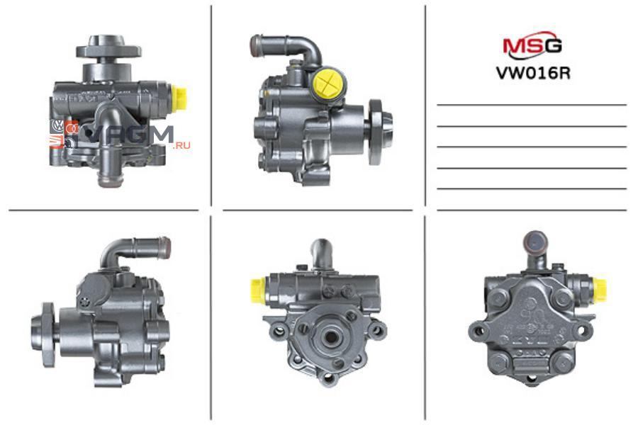 Насос ГУР AUDI A3 (8L1) 96-03;SKODA OCTAVIA (1U2) 96-10,OCTAVIA Combi (1U5) 98-10 MSG Rebuilding VW016R