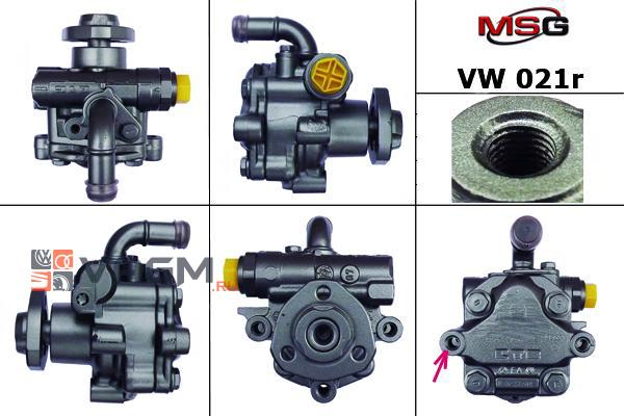 Насос ГУР VW Multivan 2003-,VW Touareg 2003-,VW Transporter 2003- MSG Rebuilding VW021R