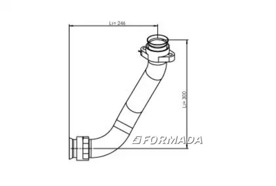 Труба глушителя MB Actros от турбины левая 1 LOW-COST E-line