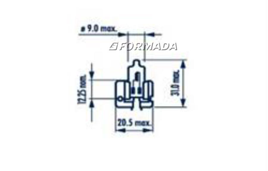 487203000 Лампа 24V H2 70W X511 короб. 1шт. NARVA