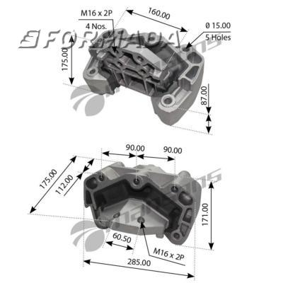 1.27360 Подушка КПП Scania 94/114/124/144 GR801-GRS890/R,GR900/R-GRS900