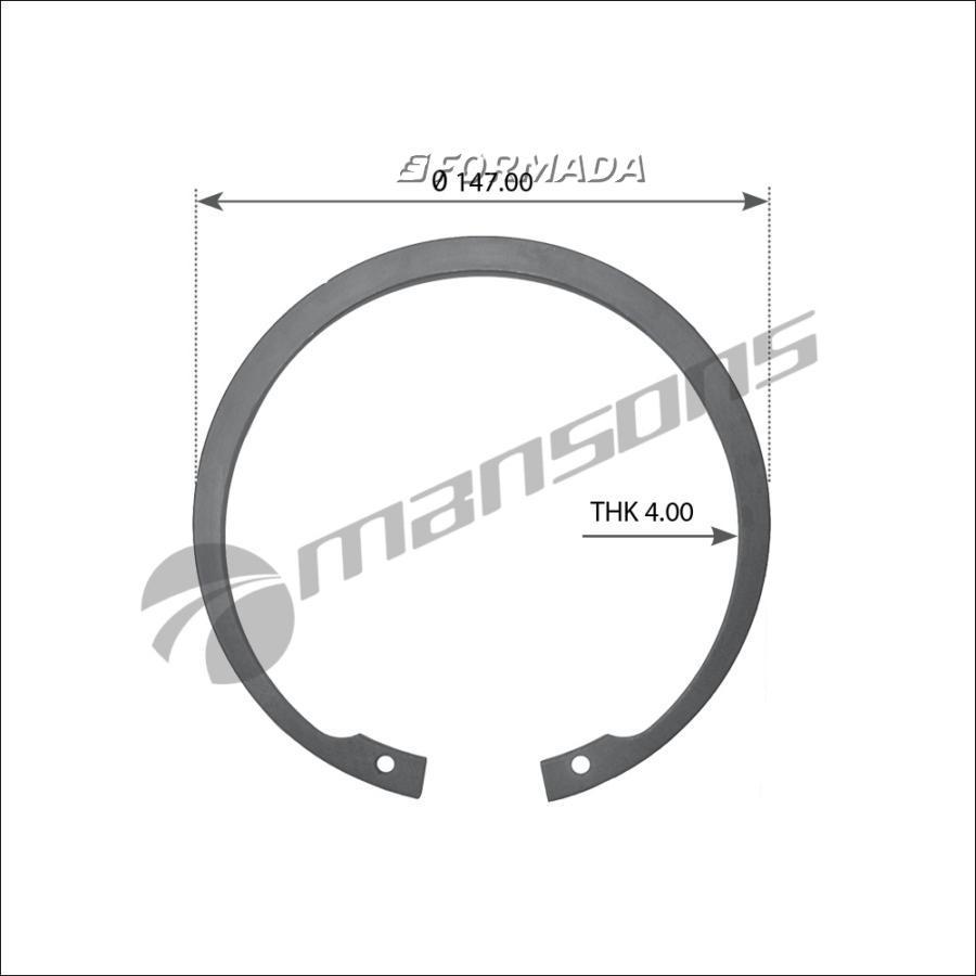 300019 Кольцо стопорное 140х4 DIN472 BPW 9T внутр. Eco/EcoMaxx