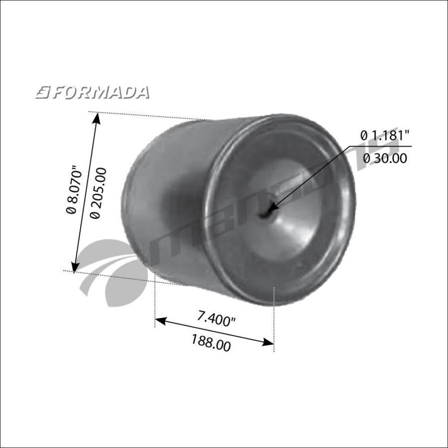 0313939420 Стакан пневморессоры  941 MB (30) BPW (металлический)