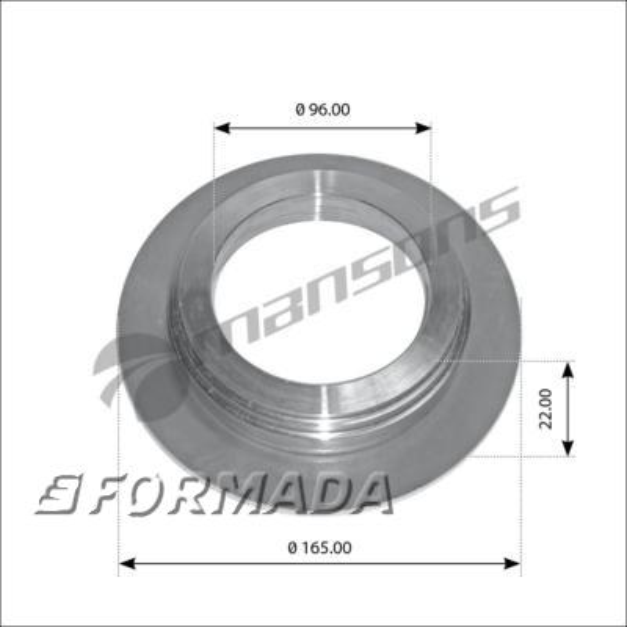 300094 Кольцо упорное ступицы 96x120/128/165x22 H SN42/K SN36 10-12t / BPW