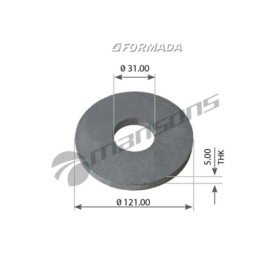 300176 Шайба подруливающей оси 31x121x5 / BPW