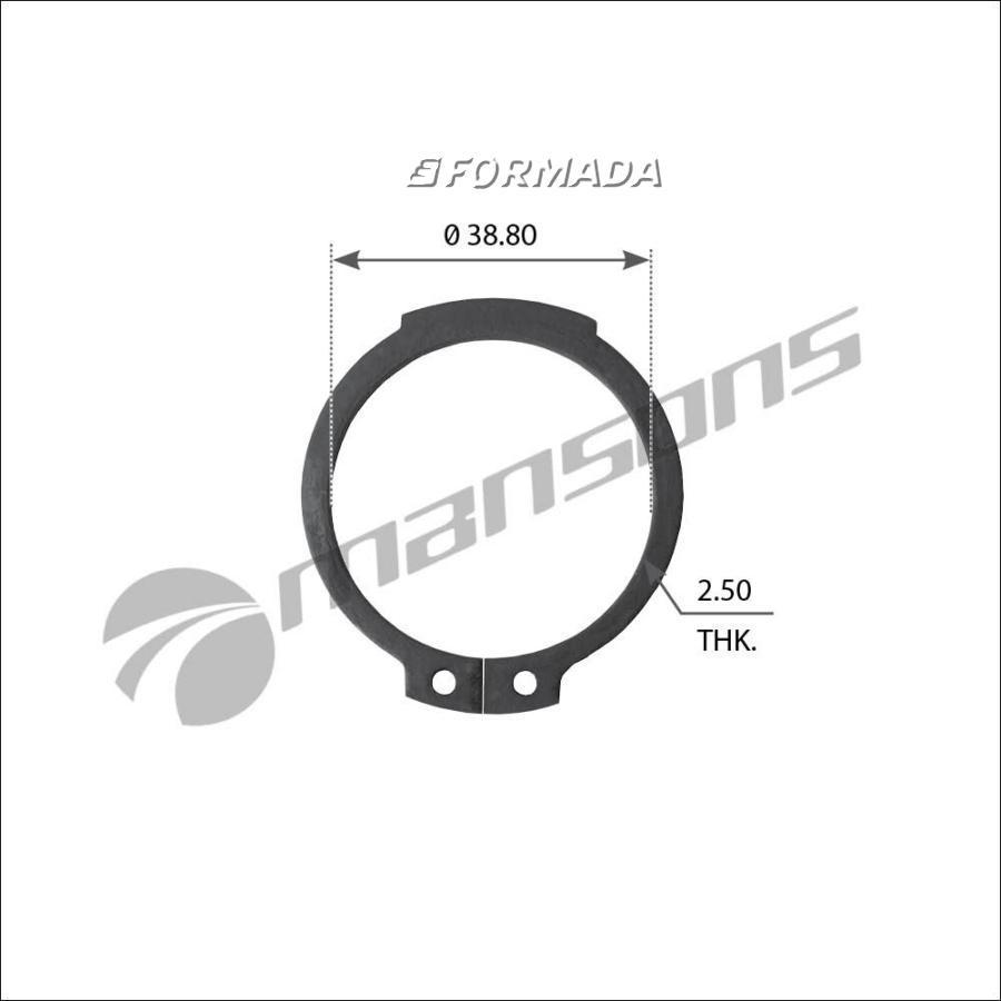 CR04 Кольцо стопорное тормозного вала A42x2.5 (38,6x42/2,5) / BPW
