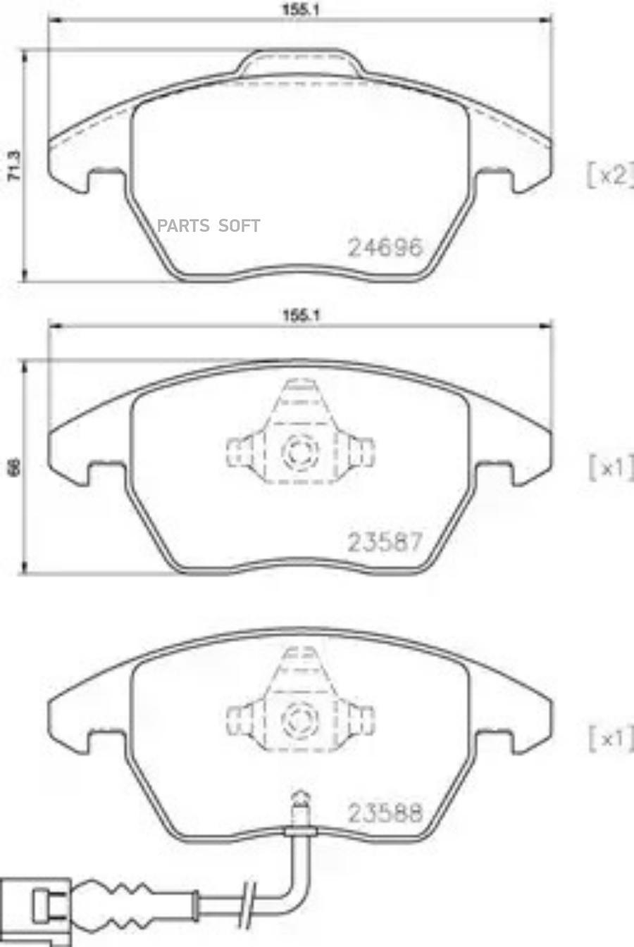 Колодки тормозные дисковые передние, Pilenga