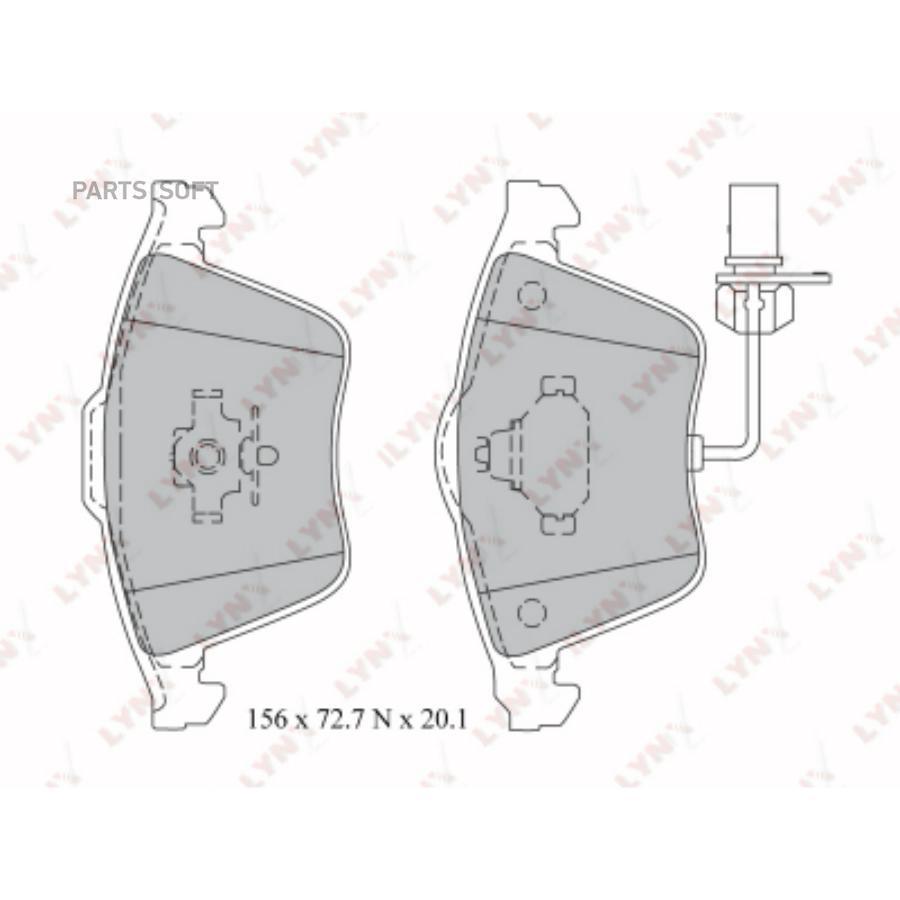 Колодки тормозные дисковые, передние