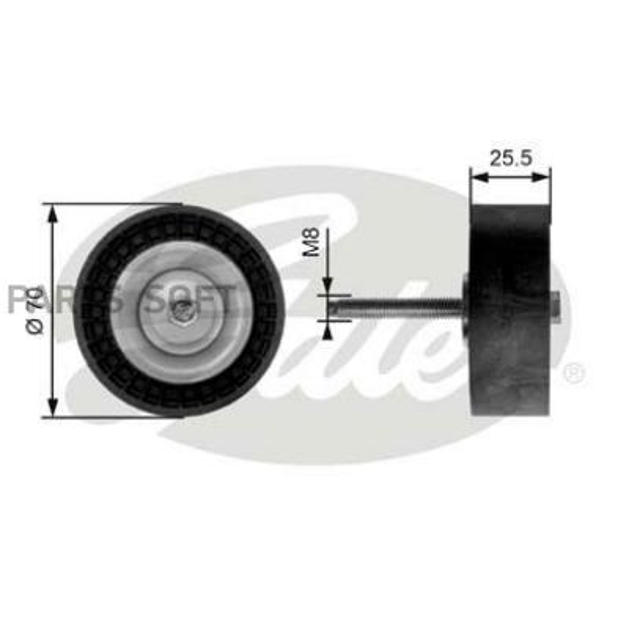 Ролик T36204 (7803-21304) GATES T36204