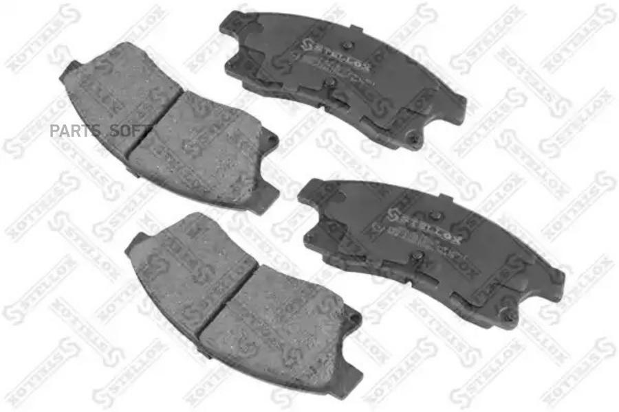 000 024B-SX колодки дисковые передние! с антискрип. пл.\ Opel Astra, Chevrolet Cruze 1.4-2.0 09> STELLOX 000024BSX