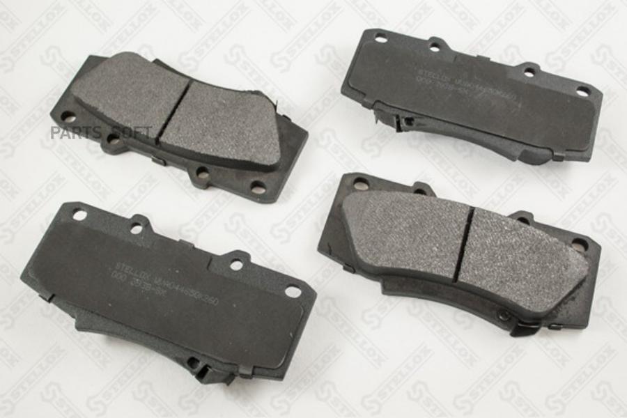 000 393B-SX колодки дисковые передние ! с антискрип. пластинами\ Toyota Hilux 2.5D/2.5-3.0D-4D 07>