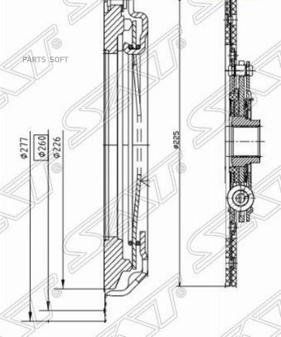 Комплект сцепления MAZDA 6 / 626 / 323 / MVP / PREMACY 1,8 / 2,0 / 2,5