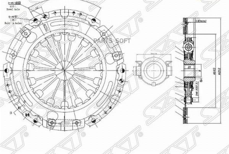 Комплект сцепления TOYOTA AURIS / COROLLA E150 1,6 (механика) 07