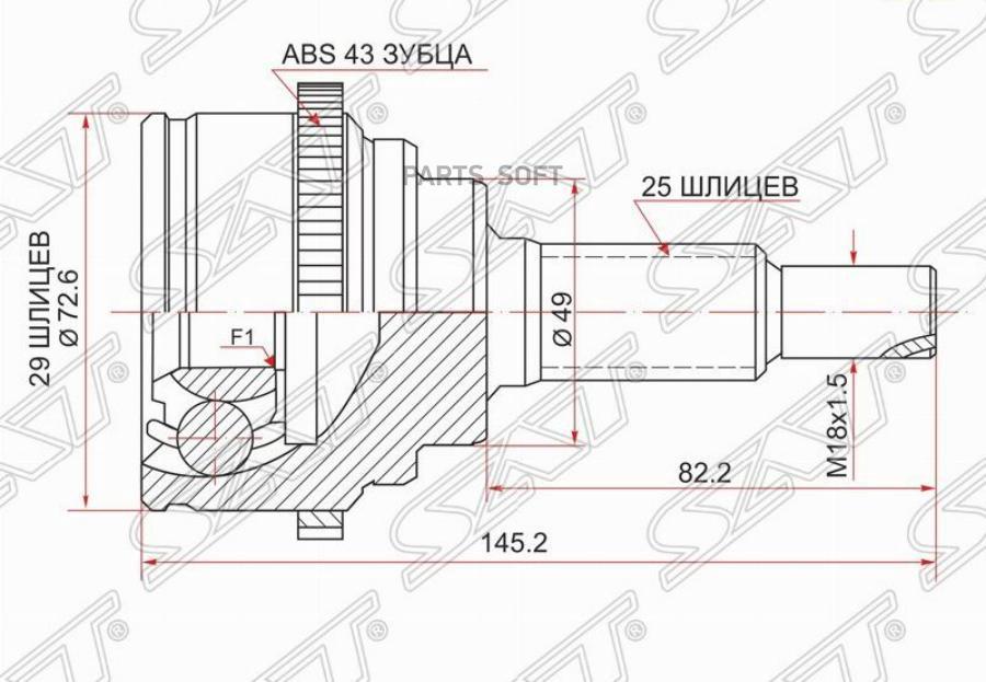 Шрус наружный SUZUKI SWIFT III M13A / M15A ZC / ZD11S / 04