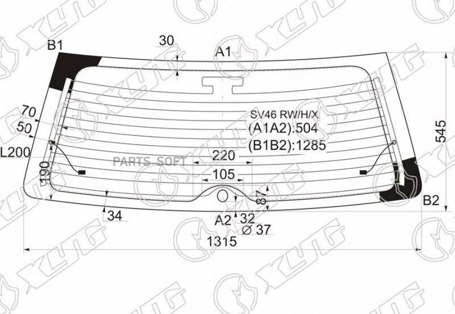 Стекло заднее с обогревом TOYOTA CAMRY GRACIA 5D WGN / MARK II QAULIS 96-01