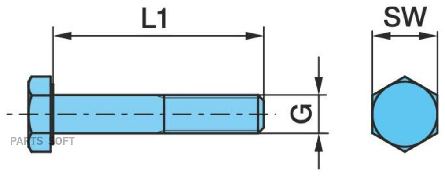 Болт М24*160  (8.8)