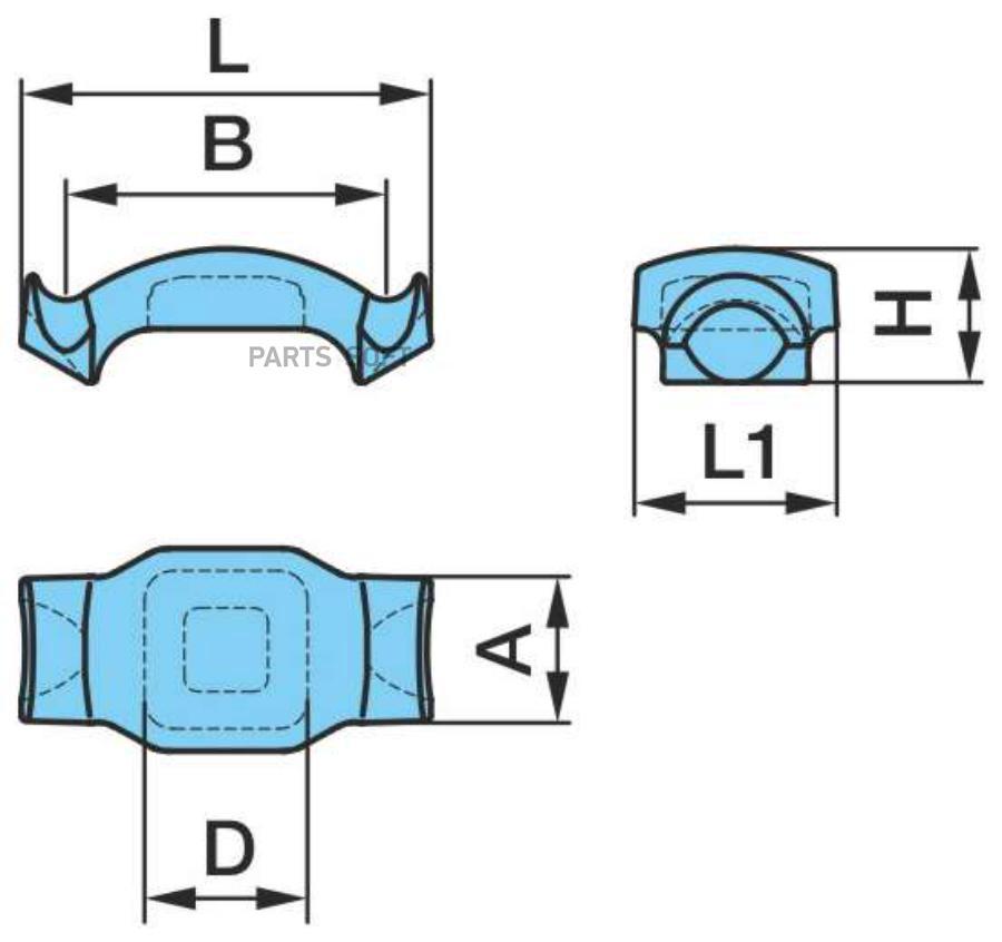 Пластина рессоры BPW верхняя