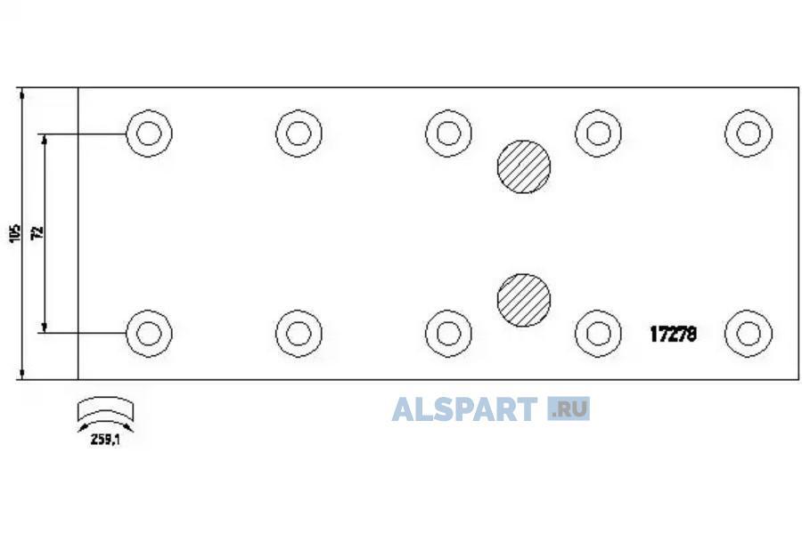 Комплект тормозных башмаков, барабанные тормоза