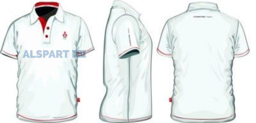 Мужская рубашка поло Mitsubishi Men's Polo Shirt White