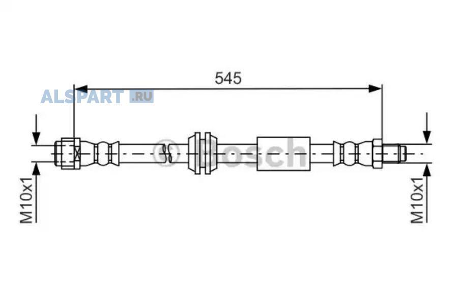 Шланг тормозной MB W164 пер.пер.575мм