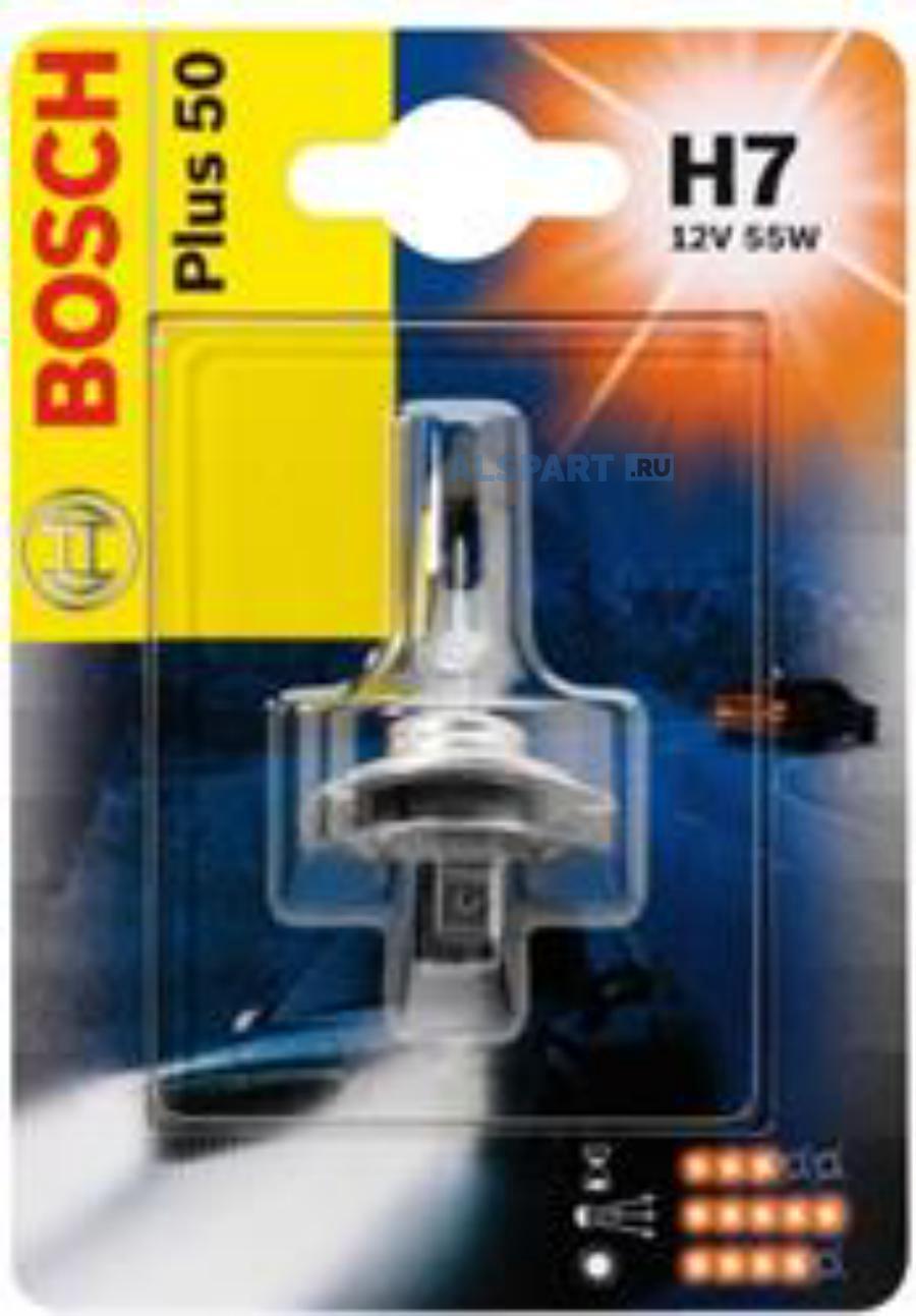 Лампа автомобильная галогенная Goodyear Н7 12V 55W PX26d More Light (блистер)