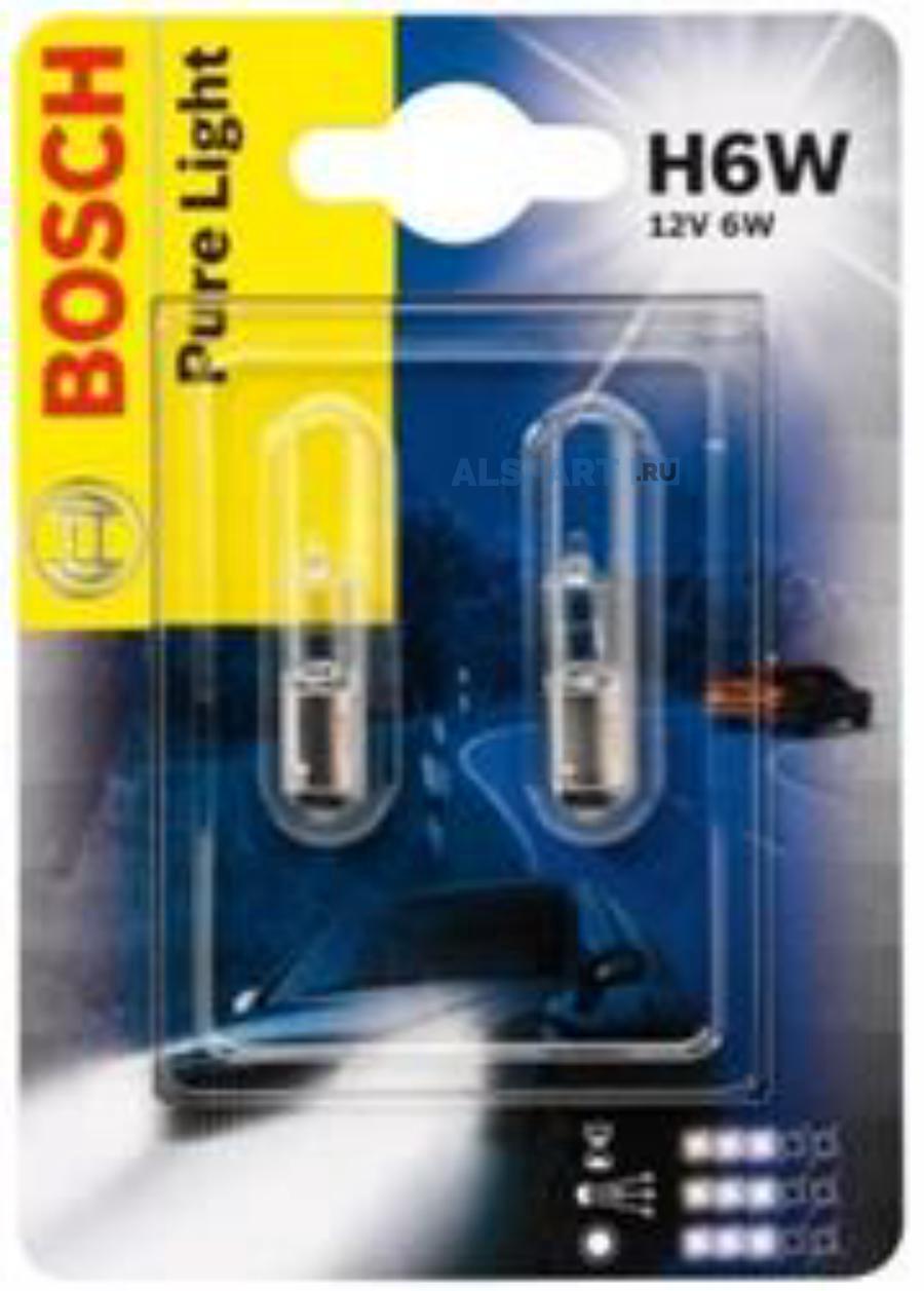 Лампа накаливания H6W 12V BAX9S