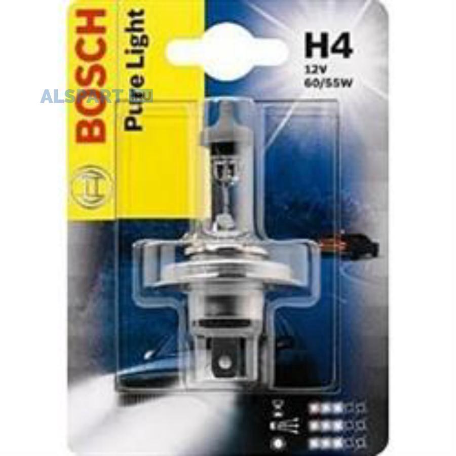 Лампа автомобильная галогенная Goodyear Н4 12V 60/55W P43t (блистер)