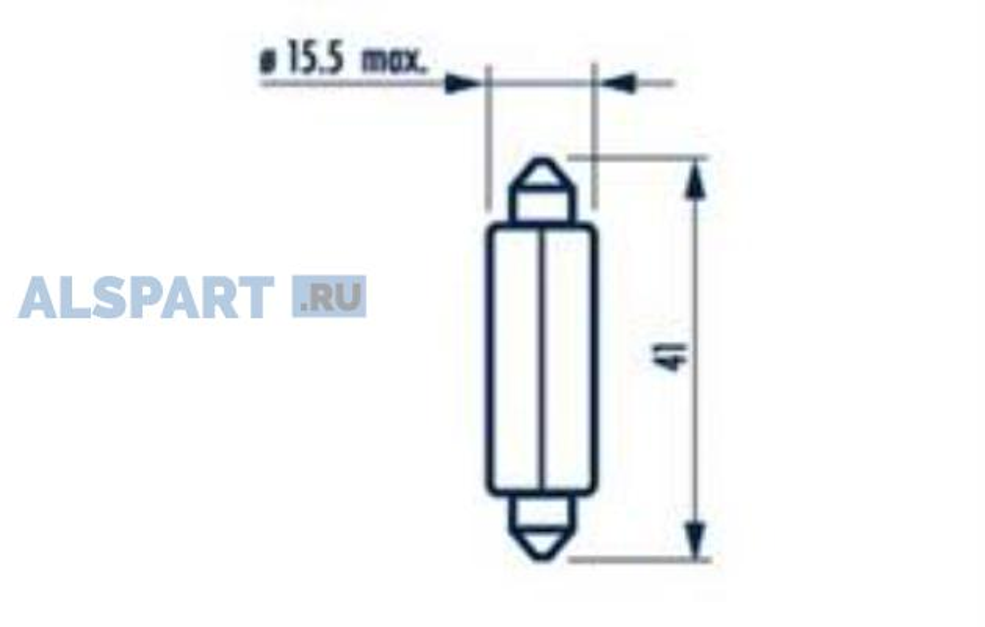 Лампа C18W 24V SV8,5 T11X41