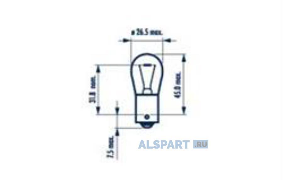 Лампа P21W 24V BA15s HEAVY DUTY FR