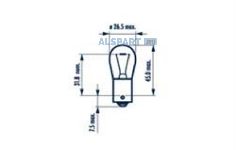 Лампа P21W 24V BA15S