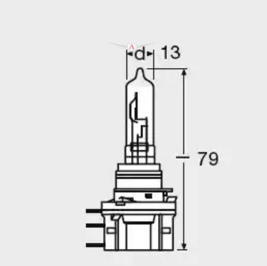 Лампа H15 12V 15/55W Р.М. 64176 OSRAM