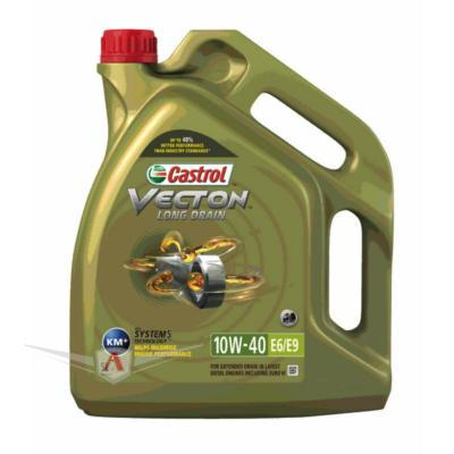 Моторное масло Castrol Vecton Long Drain 10W-40 E6/E9 синтетическое, 5 л