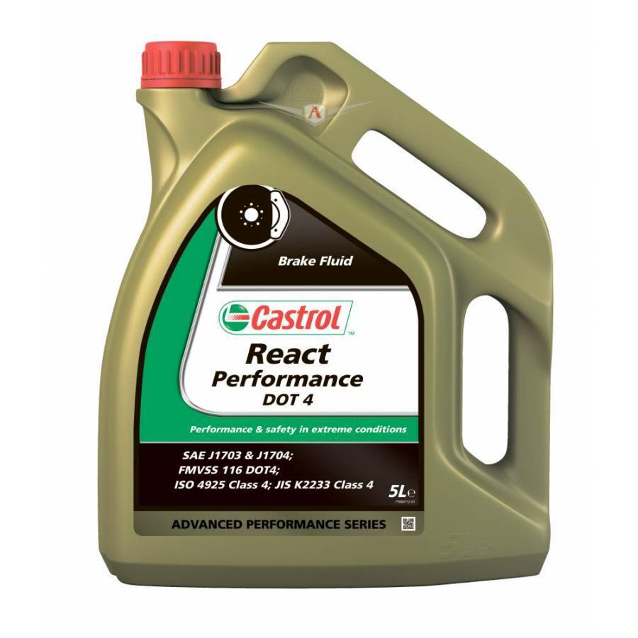 Жидкость тормозная React Performance DOT 4 4 X 5 LT