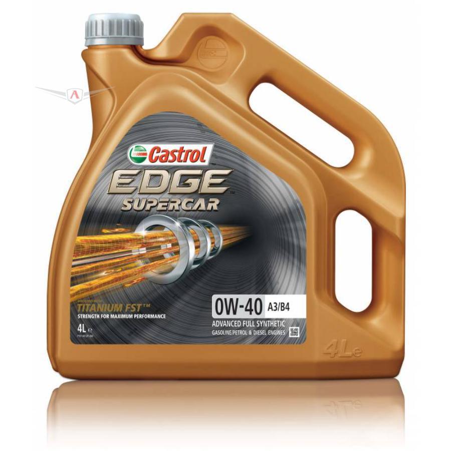 Моторное масло Castrol EDGE Supercar 0W-40 A3/B4 синтетическое, 4 л