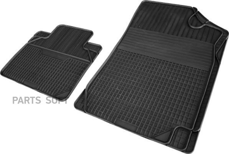 Ковры автомобильные, универсальные для иномарок, низкий борт, термопластичная резина, 4 шт.
