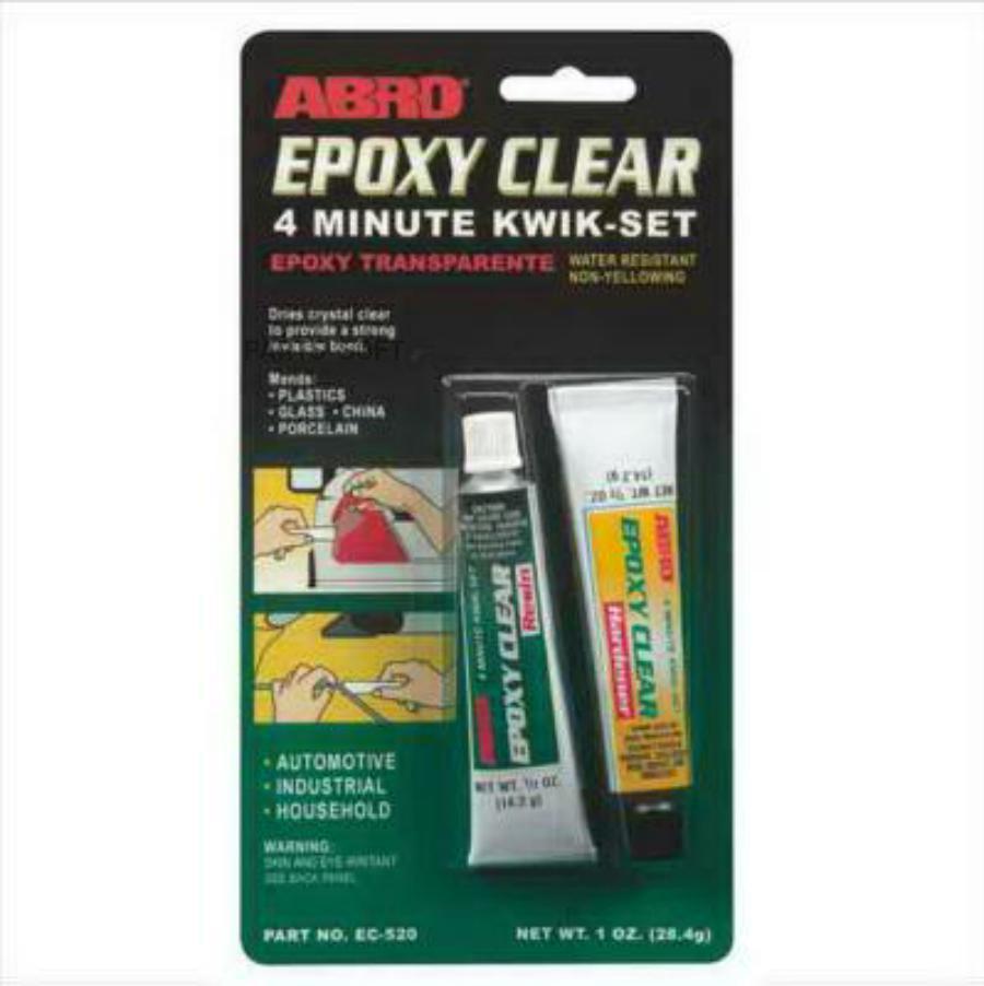 Abro клей эпоксидный прозрачный влагостойкий ec-52