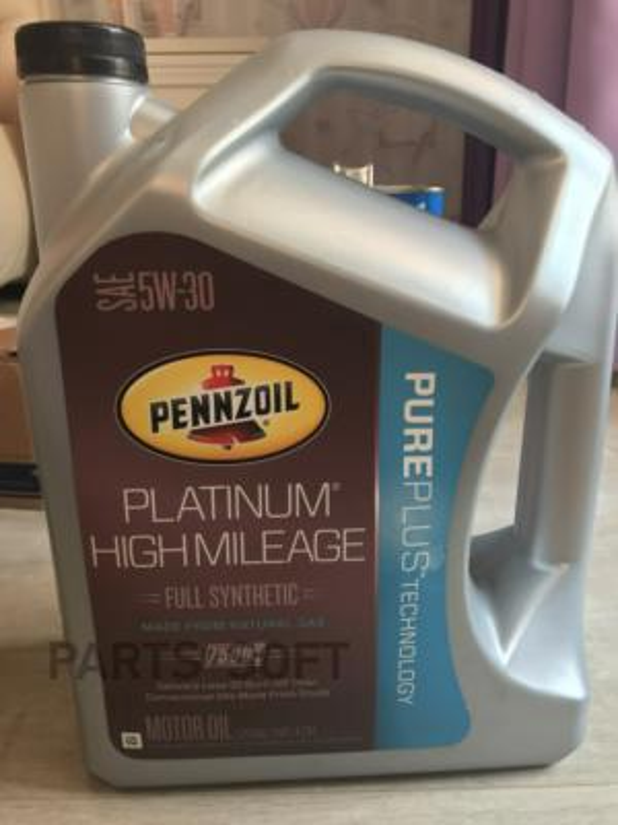 Масло моторное синтетическое Platinum High Mileage Vehicle Full Synthetic Motor Oil (Pure Plus Technology) 5W-30, 4,73л