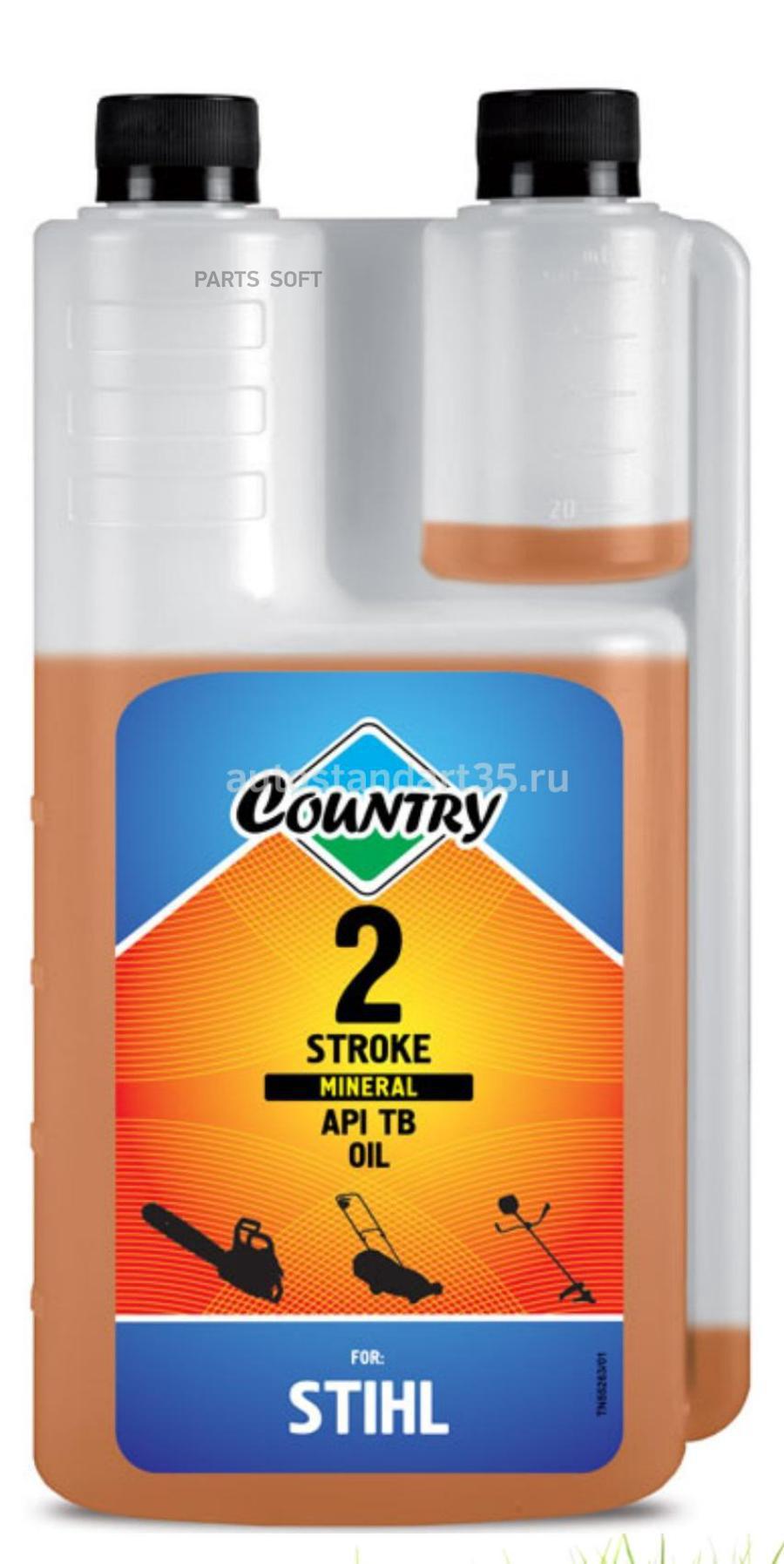 Масло моторное минеральное Country 2 STROKE, 1л