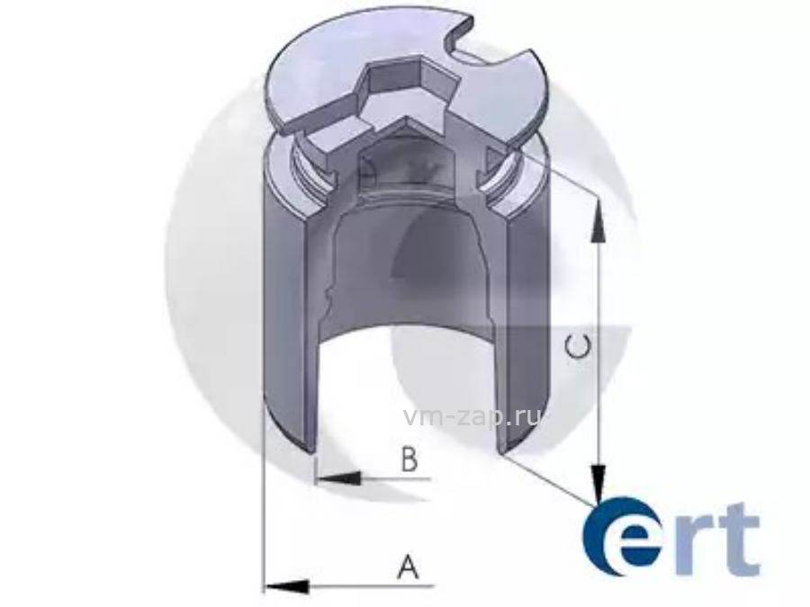 Поршень, корпус скобы тормоза