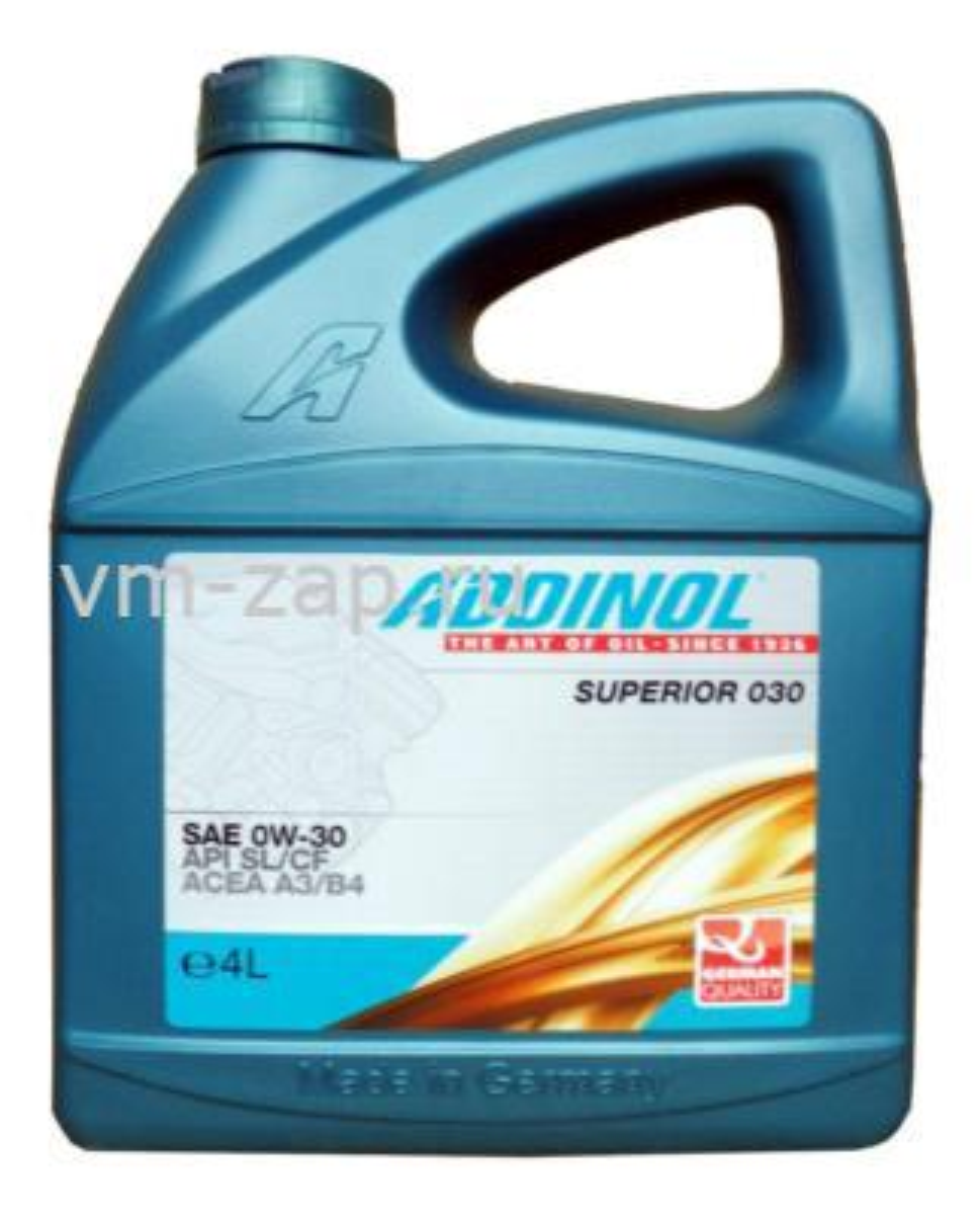 Масло моторное синтетическое Superior 030 0W-30, 4л