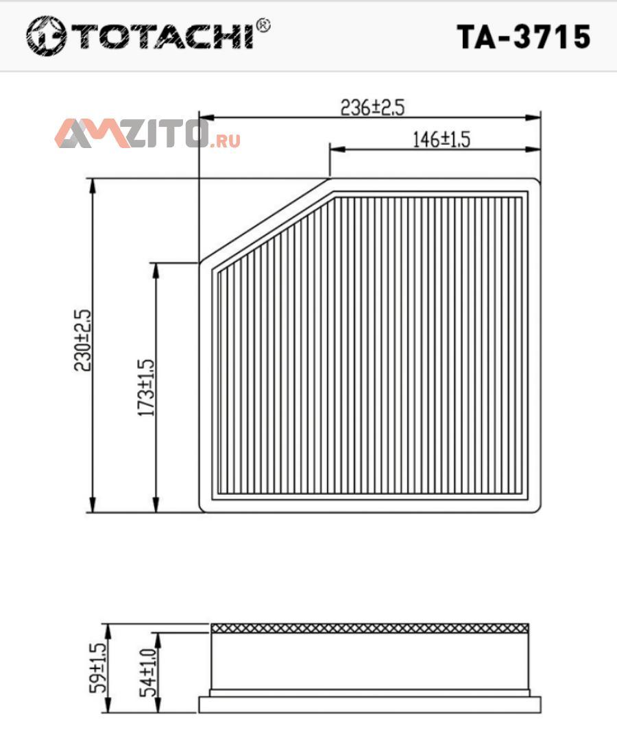 TOTACHI TA-3715 A1022 17801-31170